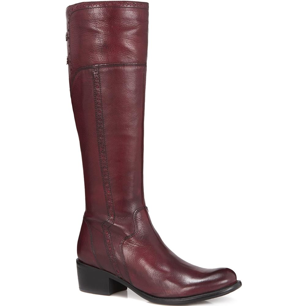 Slim Fit Leather Riding Boot - CARM28504 / 313 428