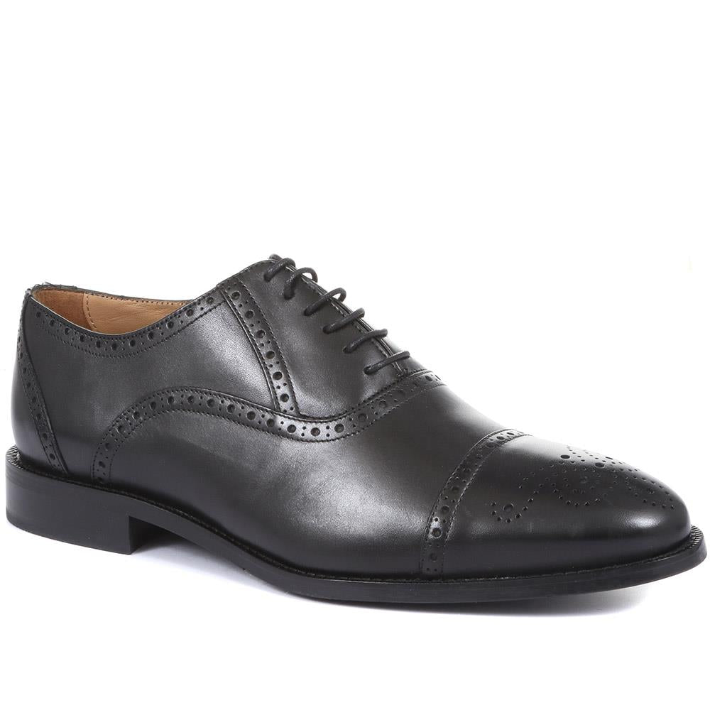Wide-Fit Leather Oxford Brogues - DAVINC30508 / 317 477