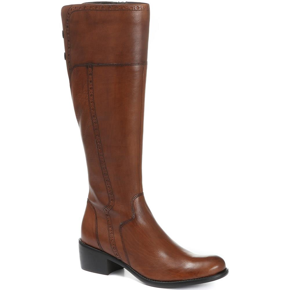 Leather Knee High Boot - CARM28503 / 313 427