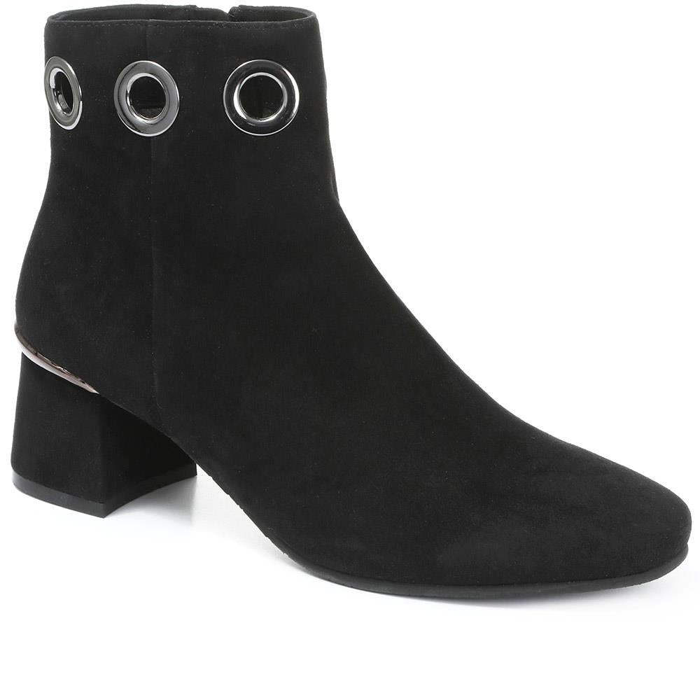 Ines-19 Heeled Leather Ankle Boots - SINO30509 / 316 149