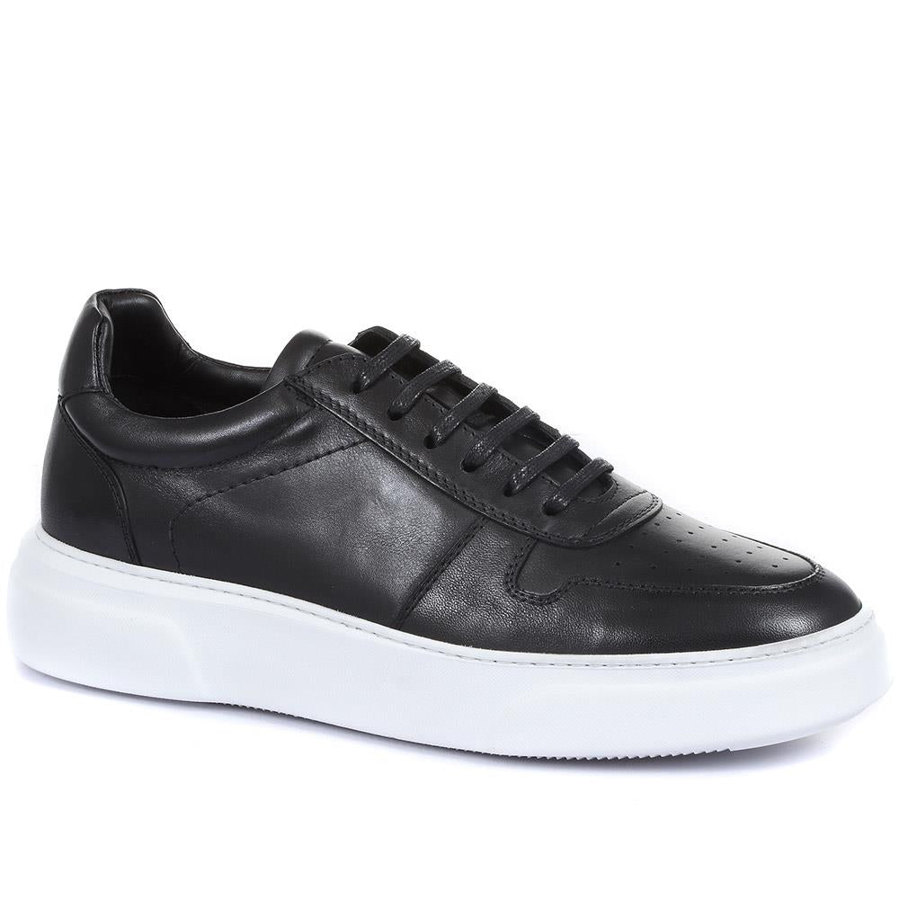 St James Lace-Up Leather Trainers - STJAMES / 319 910