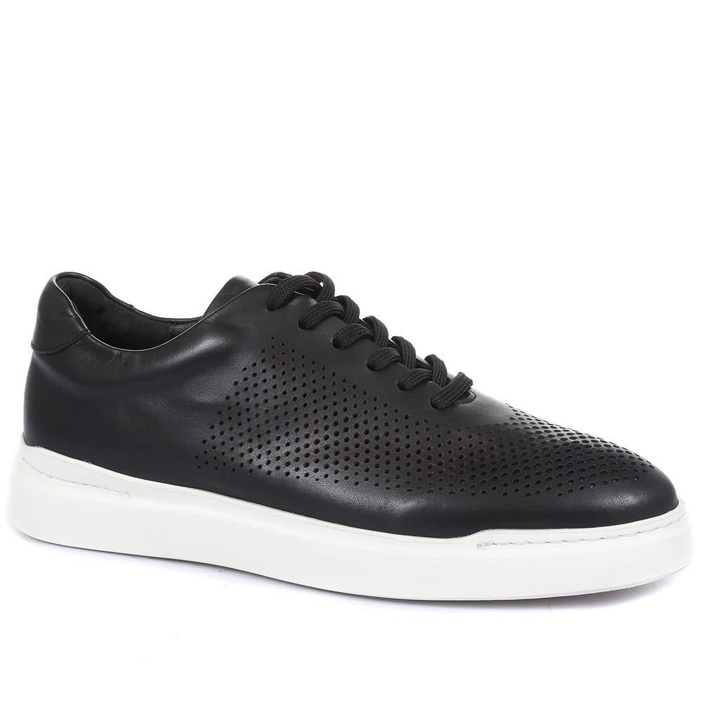 Syrus Casual Leather Trainers - SYRUS / 320 137