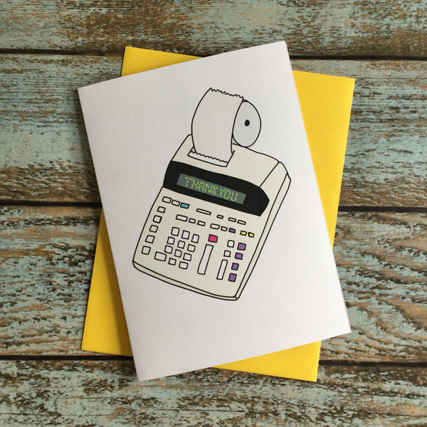 Calculated Thank You Card/ Nerdy Accountant Calculator
