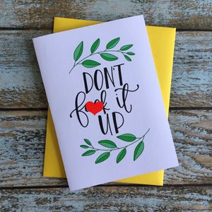 Mature Encouragement Card // Graduation // wedding // birthday
