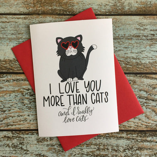 Cat Lover // Valentines Day // Love Card