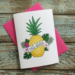 Snarky Friendship Card // Encouragement // Break Up Mature // pineapple lover