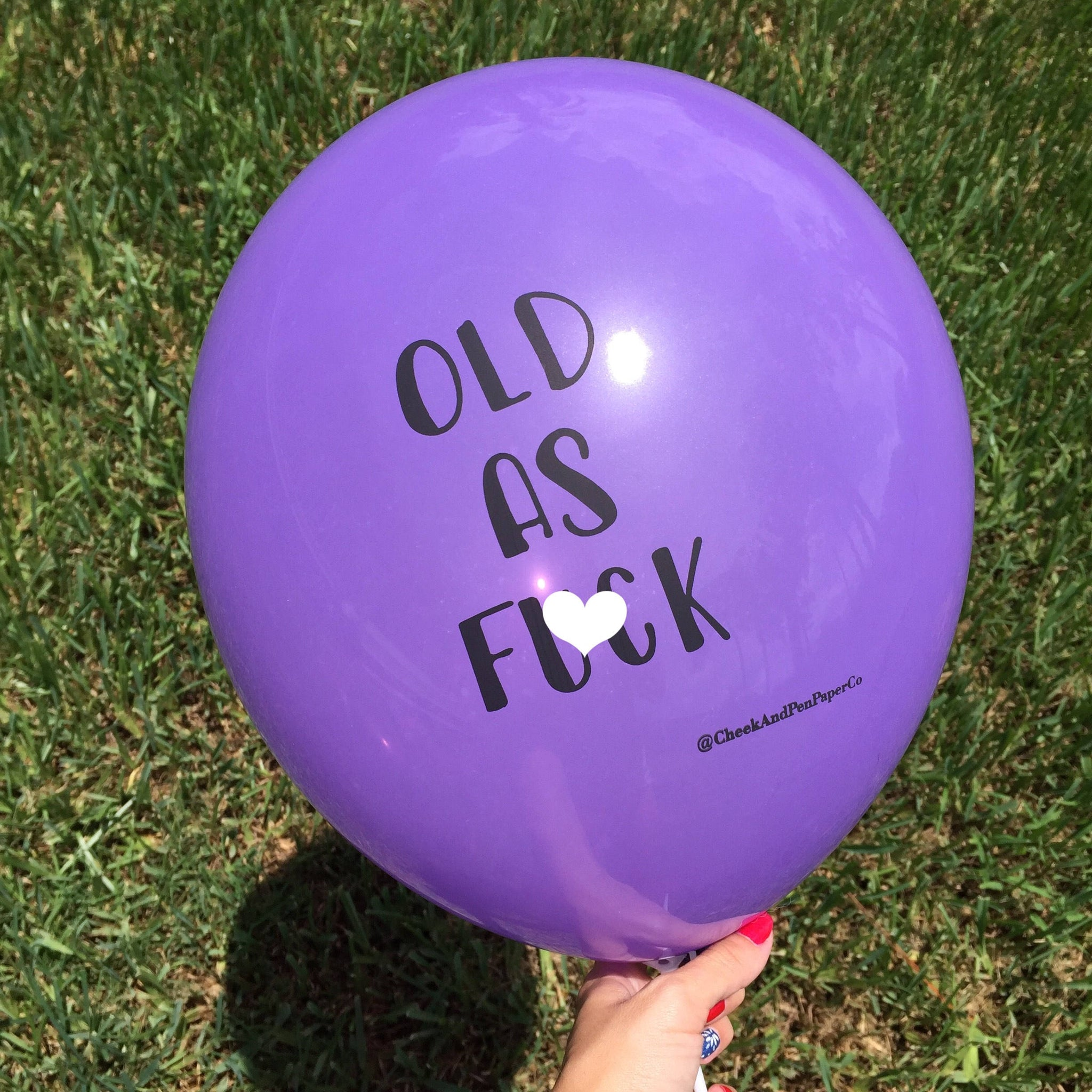 Mature Birthday Balloon // Old AF // Party Decor // Over the Hill // photo booth prop