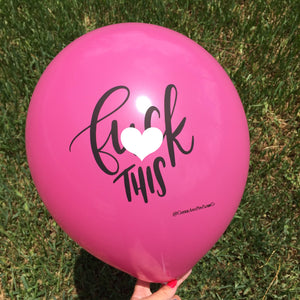 Mature F This Balloon // Break Up // Divorce // Birthday Decor // Photo Booth Prop