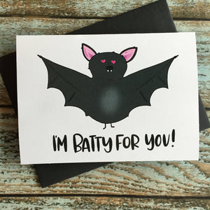 Halloween Batty Love Card