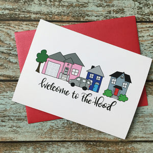 New Neighbors Greeting card, Quirky Welcome Card, Silly Card for new friends, Greetings