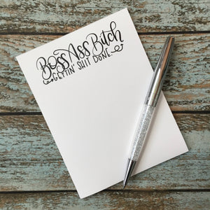 Mature Boss Ass Bitch Notepad, Girl Boss, women in charge note pad