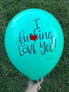 Mature Love Statement Balloon, Birthday Decor, Valentines Day