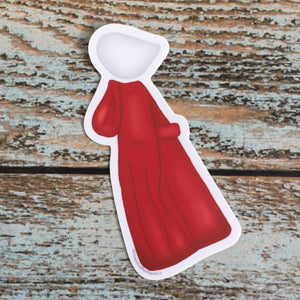 The Handmaid's Tale tiny Handmaid Car Decal, waterbottle sticker, resist