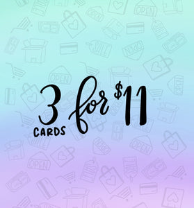 Pick Any 3 Cards Set / Greeting Cards / Blank Cards / Holiday Cards / Card Sale / Snarky Cards