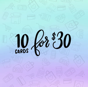 Pick Any 10 Cards Set / Greeting Cards / Blank Cards / Holiday Cards / Card Sale / Snarky Cards / Adult Cards