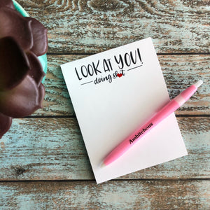 Mature Look at you Sweary Notepad, office supplies, boss gift, co worker gift, grocery list