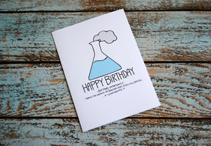 Nerdy Science Birthday Card, Hide Bodies, Bff, Funny Birthday card, Science Birthday Card