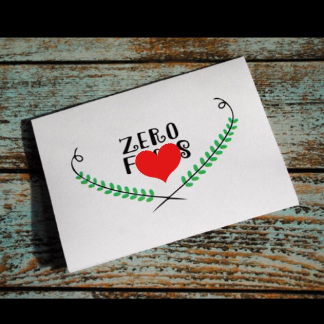 Zero F&*ks silly friendship card MATURE