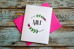 MILF Mother's Day / New Mom card
