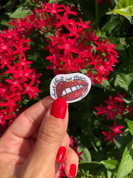 Hot Lips / Sass Mouth Mini Vinyl sticker