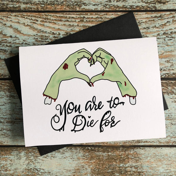 Love you to death Spooky Halloween card