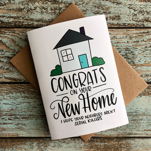 Realistic New Home Owner Card