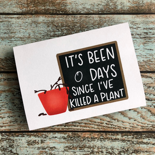 Plant Killer Condolences card