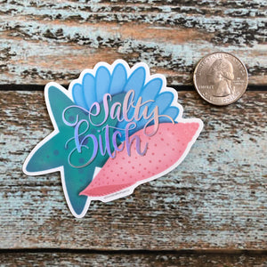 Salty Bitch Holographic Mermaid Sticker