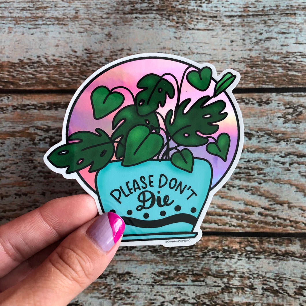 Plant Lover Holographic Sticker