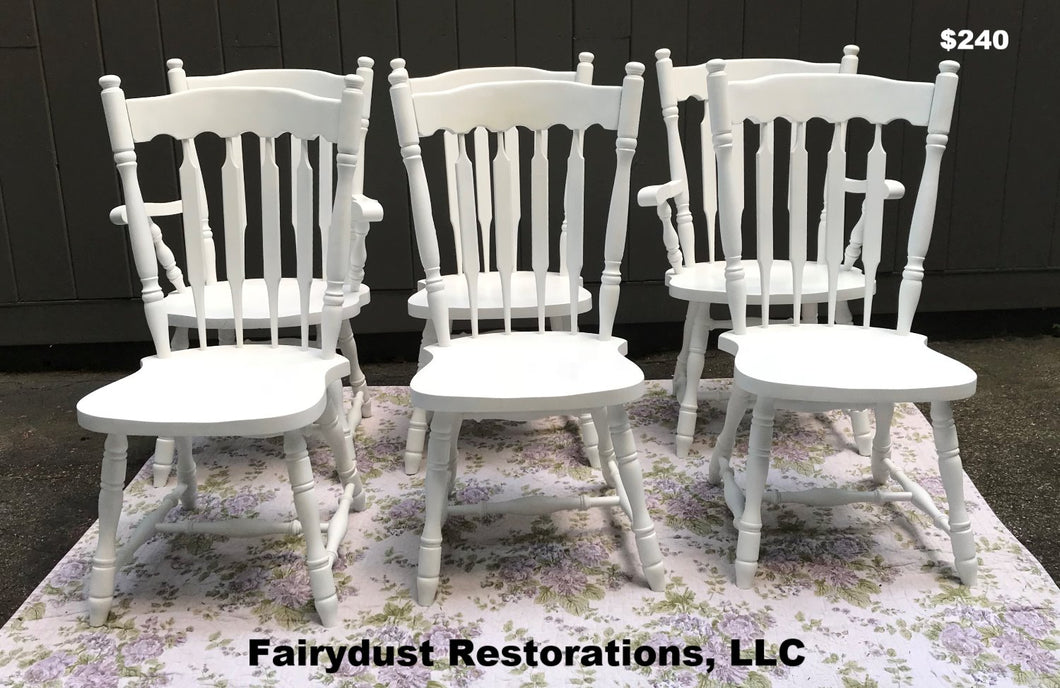 Farmhouse White Dining Chairs