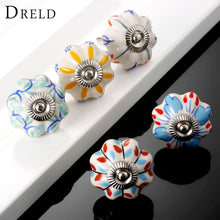 Vintage Furniture Flower Ceramic Knobs