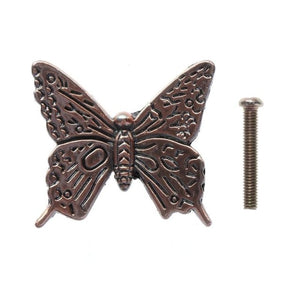 Vintage Butterfly Cabinet Pull Knobs Hardware