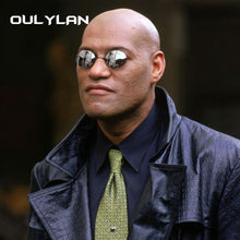 Oulylan Matrix Morpheus Round Rimless Sunglasses Men Classic Clamp Nose Sun Glasses Mens Mini Frameless Brand Design Glasses