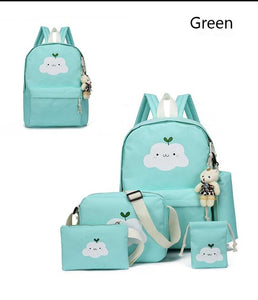 2019 New Fashion Nylon Backpack Schoolbags School For Girl Teenagers Casual Children Travel Bags Rucksack Cute Cloud Printing