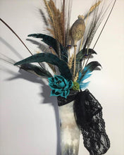 FEATHER AND DRIED FLOWER BOUQUET