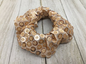GOLD SEQUENCE SCRUNCHIE