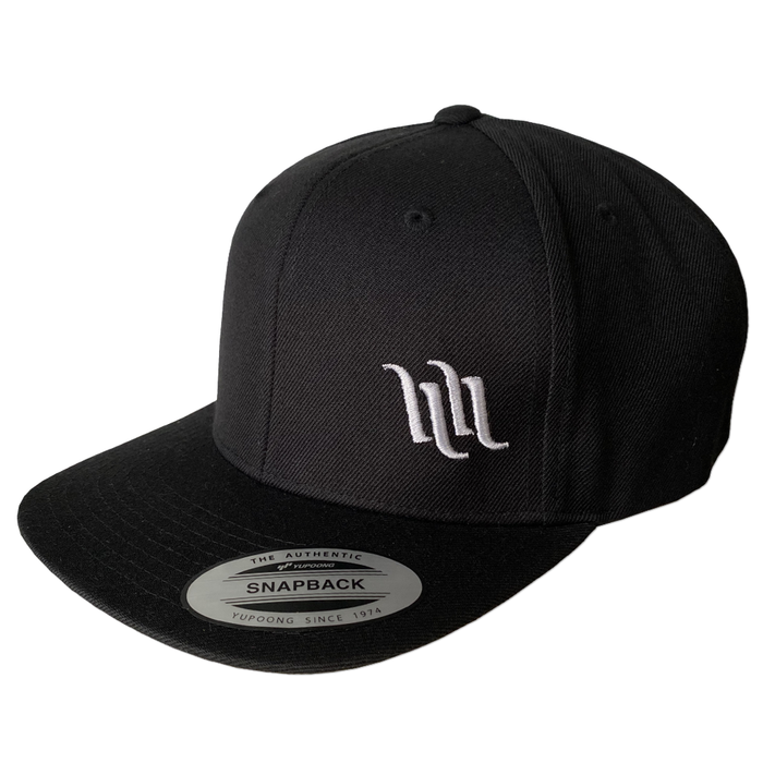 4 Bar Snapback Hat - Black