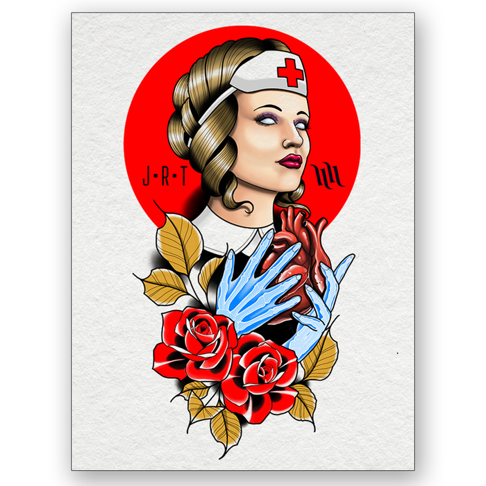 """Support our Nurses"" Archival Print by Jimmy Rogers x H&H - 9"" x 12"""