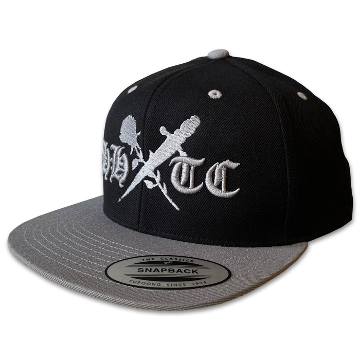 Rose & Dagger Snapback Hat (Black/Grey)
