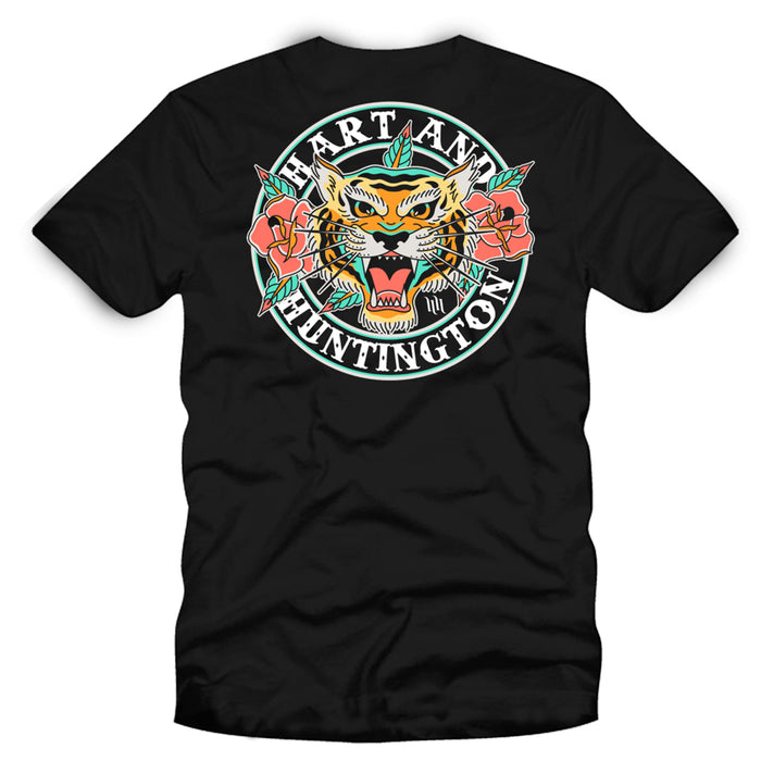 "Men's ""Tiger Rose"" Tee - Black"