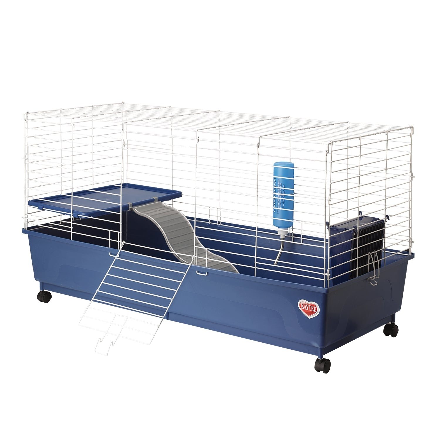 Kaytee My First Home Deluxe Guinea Pig 2-Level Cage with Wheels