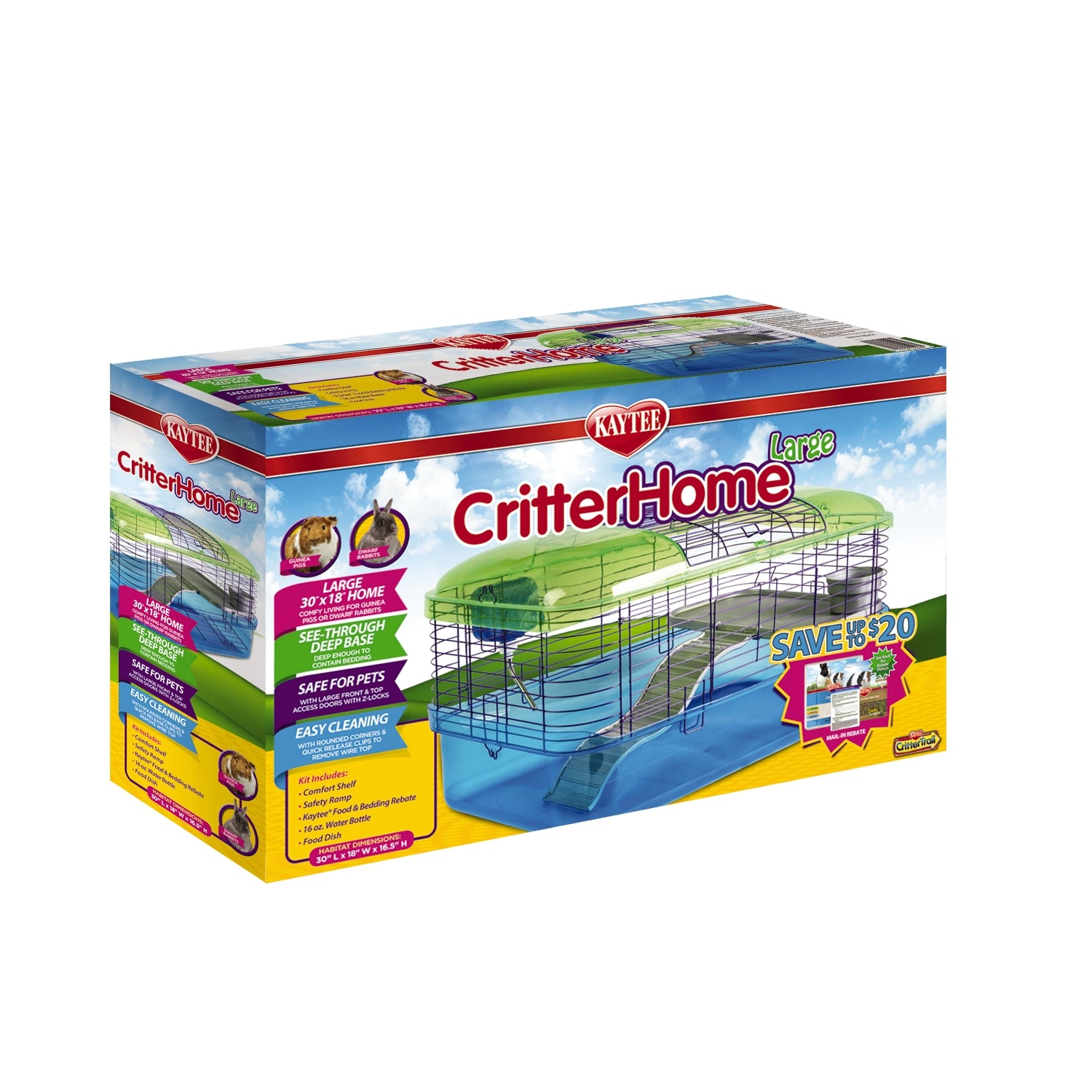 Kaytee CritterHome Small Pet Habitat - Large