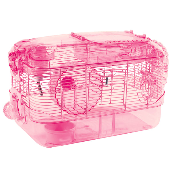 Kaytee CritterTrail One Level Mouse Habitat - Pink