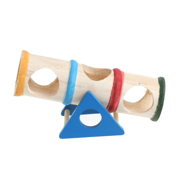 Rainbow Colored Wooden Seesaw For Small Pets