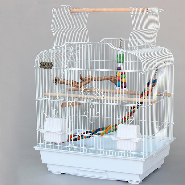 Cage Heaven™'s Fully Equipped Black Open Top Bird Cage