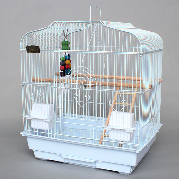 Cage Heaven™'s Fully Equipped White Bird Cage