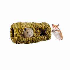 Natural Plaited Grass Nest Tunnel Toy