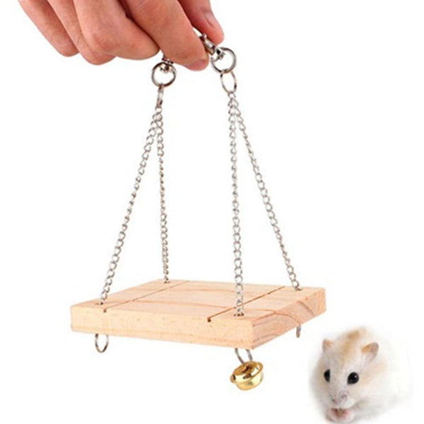 Wooden Swing For Small Animals