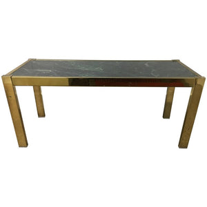 Midcentury Brass and Marble Table