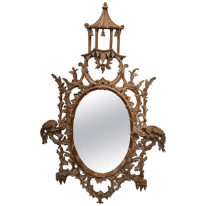 Antique English Chinoiserie Mirror